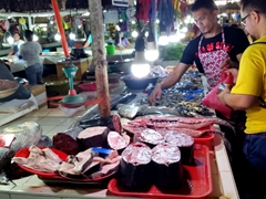 Seafood section of the Tagbilaran Public Market