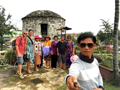 Group shot at Fort San Pedro