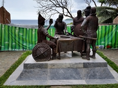 Statue depicting the famous blood compact of 1565; Bohol