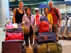 The beginning of our 12 day Tet vacation; Ton Son Nhat airport
