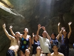 We enjoyed our 2 hour swim inside the cave; Hinagdanan