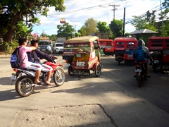 Tricycles are a cheap and fast way to zip around the island of Bohol