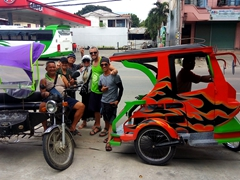 Posing with our awesome tricycle drivers who took us back from Antequera to Tagbilaran City