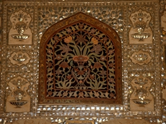 Window detail; Palace of Mirrors at Amber Fort