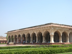 Another view of Diwan-i-Aam, the audience hall where members of the public could air their grievances to Emperor Shah Jahan