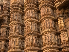 A small sample of the thousands of carvings at Khajuraho's temple complex