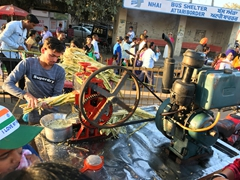 Sugarcane juice for sale; Attari