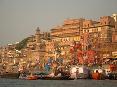 Another view of chaotic Varanasi from the peaceful Ganges