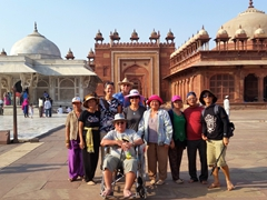 Group photo at Jama Masjid; Fatehpur Sikri