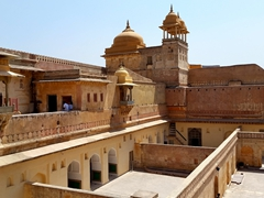 The oldest section of the Amber palace fort; Palace of Man Singh I