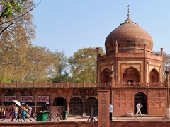 Foreigner ticket booth for the Taj Mahal (tickets are a whopping 1000 Rupees!)