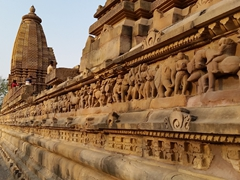 Exterior wall carvings; Khajuraho Temple Complex