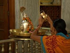 Hindu temple scene; Varanasi