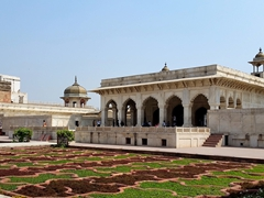The Diwan-i-Khas, or Hall of Private Audiences, was built to receive important guests; Agra Fort