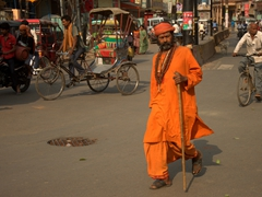Sadhus are a common sight in Varanasi