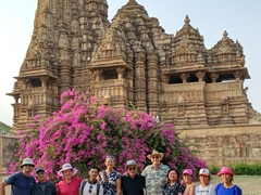 Family photo at Kandariya Mahadeva Temple; Khajuraho