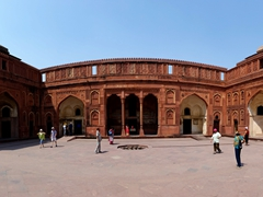 Panorama of an interior courtyard; Agra Fort