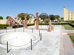 Another view of Jantar Mantar, designed for the observation of astronomical positions with the naked eye
