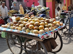 Melons for sale in colorful Amritsar