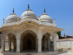The beautiful Pearl Mosque (Moti Masjid) of Agra Fort