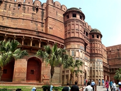 The massive Delhi Gate of Agra Fort