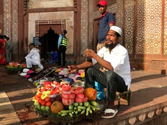 Fruit vendor outside Jama Masjid; Fatehpur Sikri