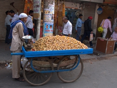 Street vendor; Chandni Chowk