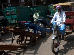Rickshaw transport in Old Delhi
