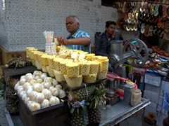 Fresh pineapples for sale; Old Delhi