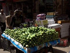 Zucchini vendor; Old Delhi