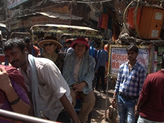Tensions begin to mount in Old Delhi as the traffic becomes more unmanageable