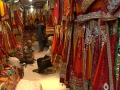 Sari shop in Old Delhi