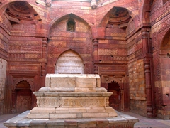 Tomb of Iltutmish, famous for its ornate carvings; Qutb Minar Complex