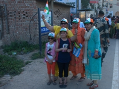 Indian pride on full display at the Wagah Border Ceremony - a popular spot for both domestic and foreign visitors