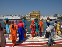 Sikh pilgrims at the Golden Temple