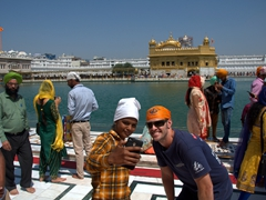 Robby taking countless selfies at the Golden Temple