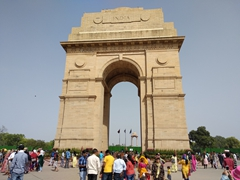 India Gate, a 42 meter tall war memorial in Delhi