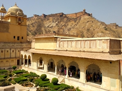 Charbagh garden in the third courtyard of Amber Fort
