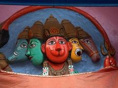 Temple detail; Varanasi