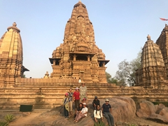 Group photo by the massive Lakshmana Temple