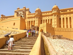 Hiking down from Amber Fort