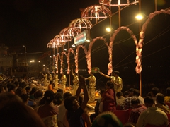 Aarti ceremony performed at another Ghat along the Ganges