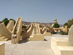 Observatory (or Jantar Mantar), a series of 19 astronomical instruments built in 1734; Jaipur