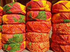 Colorful Pagri turbans for sale; Jaipur