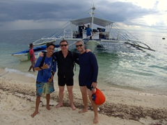 Josh, Marco and Robby getting ready for our dive at Deep Slope