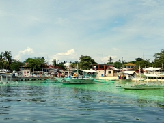 Taking the public boat to Bario Logon; Malapascua Island