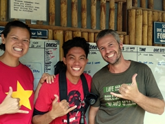 Posing with Josh, our favorite Evolution dive master; Malapascua Island