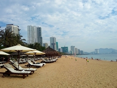 Nha Trang's long sandy beach