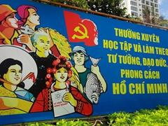 Communist propaganda poster; Nha Trang
