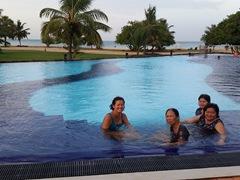 Enjoying the lovely swimming pool of The Calm Resort & Spa; Passikudah